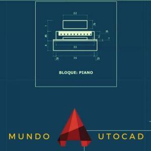 Bloques de AutoCAD para PIANOS