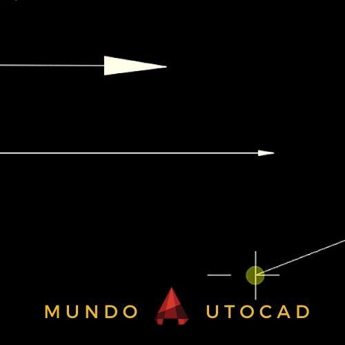dibujar flechas autocad